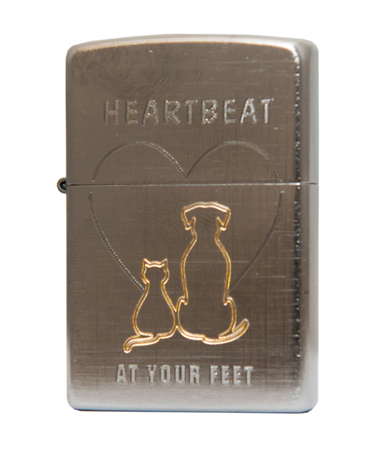 Зажигалка Zippo- CAT AND DOG фото